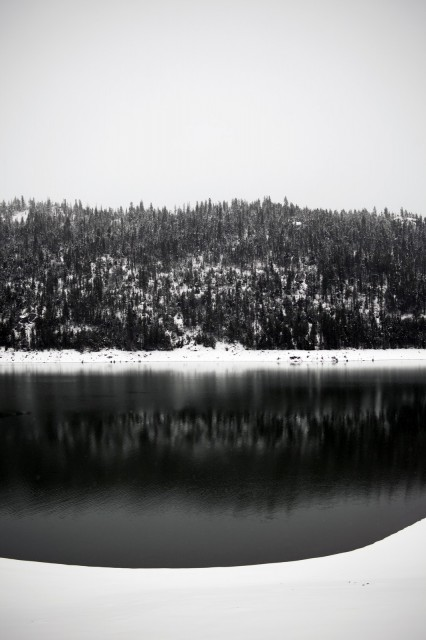 Snowy Lake by Foster Hungtington of A Restless Transplant